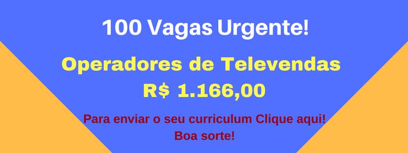 VAGA Operadores de Televendas
