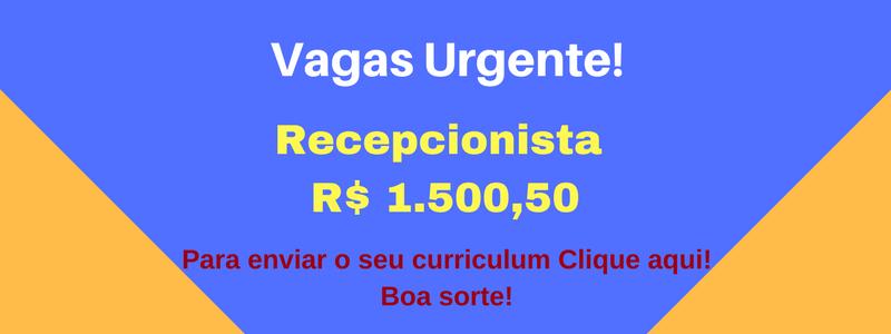 VAGA Recepcionista